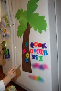 Chicka Chicka Boom Boom tree for the fridge