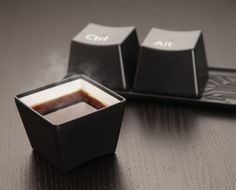 Control-Alt-Delete Tea cups..could def see getting these. Hope the material stays cool, no handle