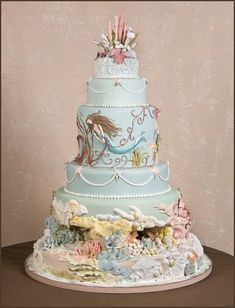 A Kerry Vincent Mermaid Romantic Cake Creation
