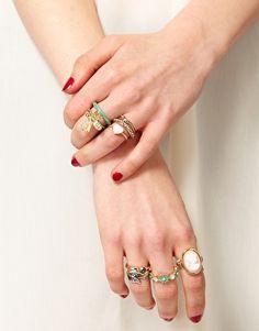 ASOS Pretty Vintage Pack of Rings