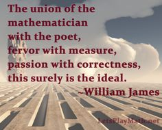 Today's quote is from William James, via the Furman University Mathematical Quotations Server. Background photo courtesy of Joe Maggie-Me (C...