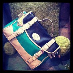 classic color block...kelly green handbag!