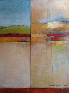 """""""Divide"""" - KAREN JACOBS contemporary and abstract paintings"""