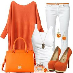 outfits, fashion, cloth, style, colors, tennessee, white, oranges, closet
