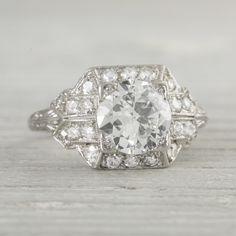 Image of 1.20 Carat Vintage Art Deco Engagement Ring