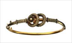 1880s Victorian Etruscan Revival Bracelet, 14K Gold from eerie basin