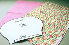 Nature's Heirloom: Simple Burp Cloth Tutorial w/free pattern!  Need to make some for the baby!