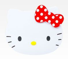 Hello Kitty Die-Cut Compact Mirror: Red Dot