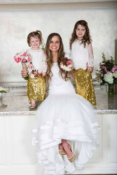 CUSTOM MADE Girls Gold Sequin Maxi Skirt by carlykenney on Etsy