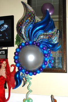 "Balloon Flower I made for a ""Fantasy"" themed Halloween Party. Underwater theme"
