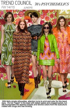 F/W 2014-15, juniors contemporary trend themes, 70's chic