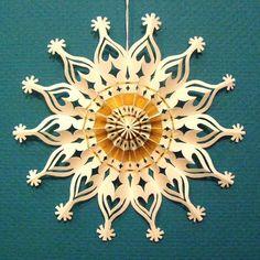 paper cut star ornament