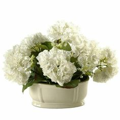 You can never go wrong with white #hydrangeas!  Add this #havertys Hydrangea Floral to get an #elegant look in your space.