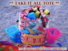 Take It All Tote Tutorial on the Moda Bake Shop.