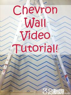decor, babi idea, room idea, diy wall chevron, wall accent, wall video, video tutori, chevron wall nursery, 2nd bedroom
