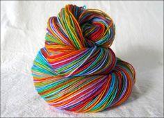 """Rainbow Love"" Vesper Sock Yarn 5 Stripe Colorway"