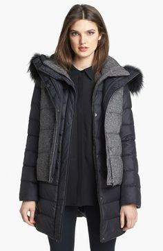 Soia & Kyo 6-in-1 Reversible Quilted Jacket & Vest with Genuine Fox Fur Trim available at #Nordstrom