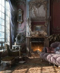 Gothic. If I ever won the lottery, & hit big. Every room would have its own theme❤