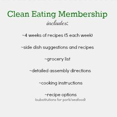 I LOVE this. You can purchase a 3 month (already planned) menu of CLEAN EATING! It even includes the grocery list, cooking instructions and options. Its only fifteen dollars. Must do.