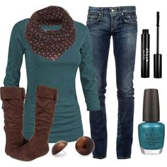 Brown and Teal.
