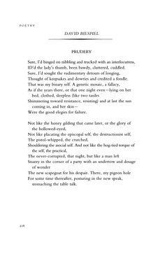 """""""Prudery"""" by David Biespiel   January 2004 : Poetry Magazine"""