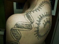 #DNA #RNA #spiral #nucleotides #protein #molecules #biology #minimal #tattoo