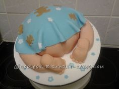 Coolest Baby's Bottom Shower Cake... This website is the Pinterest of birthday cake ideas
