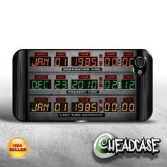 Back to the Future Time Circuits iPhone 4 4s by HeadcaseDesignz