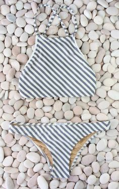 Made by Dawn - Stone Stripe Bikini