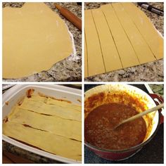 Lasagna with Homemade Lasagna Noodles ~ Secret Receipe Club