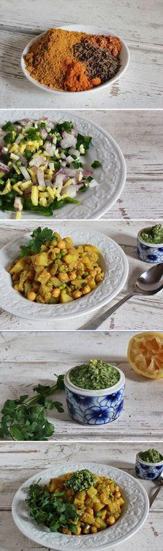 Potato & Chickpea Masala