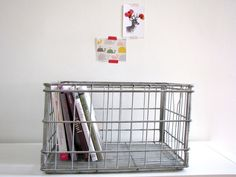 Large Milk Metal Crate by FrenchByDesign on Etsy, $55.00