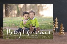 Personalized ~ Spirit of Christmas Holiday Photo Cards.