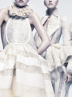 erin wasson, david sims, balenciaga, couture, white, camps, gemma ward, pastel fashion, fashion photography