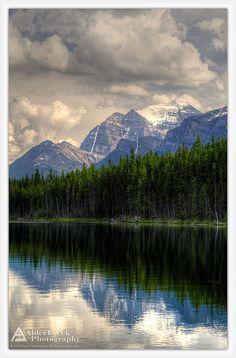 Herbert Lake and Mount Temple, Banff National Park, Alberta
