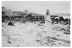 beach maternity photo