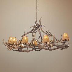 light idea, antler 45, chandeliers, antlers, light live, deer antler, entryway, elk deer