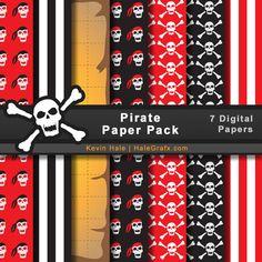 FREE Pirate Digital Paper Pack