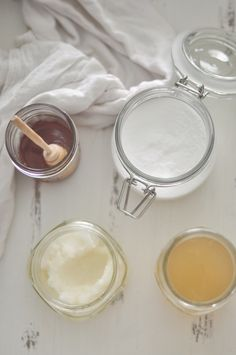 1. cleanse — {twice daily} with raw, organic honey & warm water 2. exfoliate — {every few days} with all-natural baking soda  3. tone — {once daily} with raw, organic apple cider vinegar diluted with water 4. moisturize — {at least twice daily} with organic coconut oil