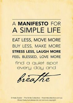 living simply quotes - Google Search
