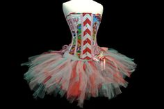 Cotton Candy Tutu Candyland Costume by Mad by MadToppingsCorsetry, $99.00