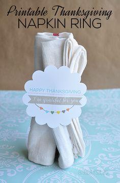 Printable Thanksgiving Napkin Rings