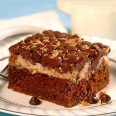 Upside-Down Chocolate Cream Cheese Cake