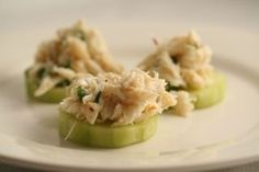 100 g lump crab meat 1 tsp lime juice 1 tsp water 1 tsp dry mustard 1 tsp chopped green onions pinch of red pepper flakes 1/2 cucumber, peeled and sliced salt and pepper to taste #Christmas #thanksgiving #Holiday #quote