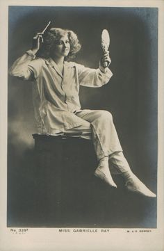 """Gabrielle Ray sang 'The Pink Pyjama Girl' in the musical comedy """"The Orchid"""" (1903). Public domain image c. 1904 #lingeriehistory"""