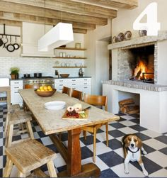 floor, fireplac, rustic kitchens, french country kitchens, french kitchens, dream kitchens