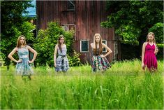 Awesome senior pictures with your best friends. Cool fashion poses at Rock the Dress 2013.