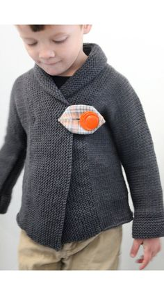KNITTING PATTERN Shawl Collar Baby Coat