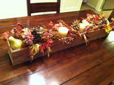 Fall table decor! Love it!