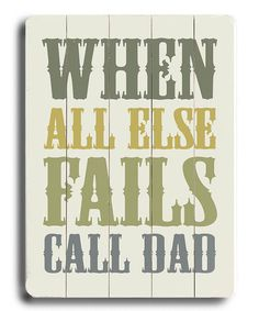 Another great find on #zulily! 'Call Dad' Wall Art #zulilyfinds